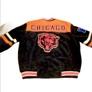 Extremely RARE vtg CHICAGO BEARS suede leather